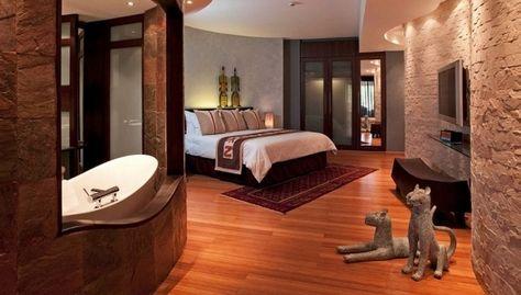 спальня в африканському готелі