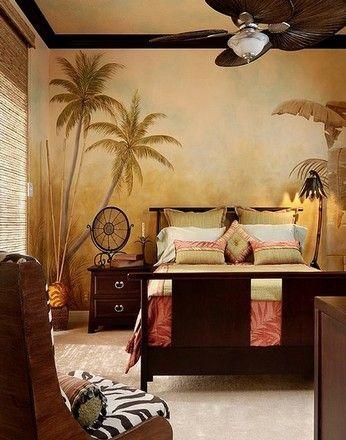 африканські мотиви в спальні