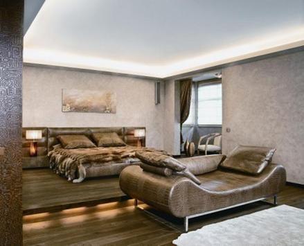 африканська спальня з шкіряними меблями