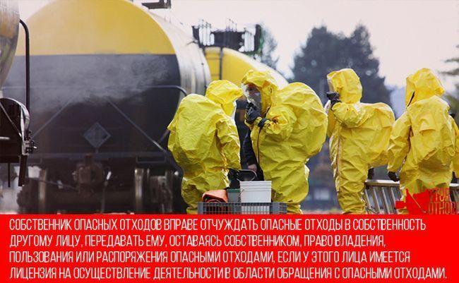 Відправка небезпечних відходів на утилізацію