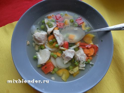 суп з індички в мультиварці