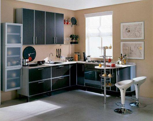 кутові кухні фото з барною стійкою