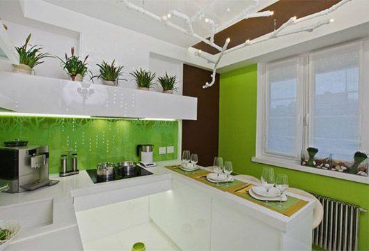 кутові кухні з барною стійкою в стилі модерн