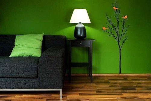 Зелений колір в інтер`єрі: загальні характеристики